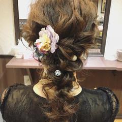 結婚式 外国人風カラー ヘアアレンジ グレージュ ヘアスタイルや髪型の写真・画像