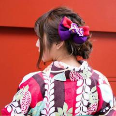 謝恩会 袴 ロング 簡単ヘアアレンジ ヘアスタイルや髪型の写真・画像