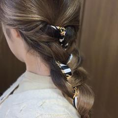 ロング 編み込みヘア スカーフアレンジ ヴィーナスコレクション ヘアスタイルや髪型の写真・画像