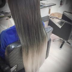 モード グラデーションカラー ハイトーン エクステ ヘアスタイルや髪型の写真・画像