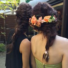 編み込み ヘアアレンジ ロング パーティ ヘアスタイルや髪型の写真・画像