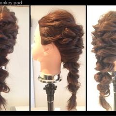 結婚式 ロング ヘアアレンジ ゆるふわ ヘアスタイルや髪型の写真・画像