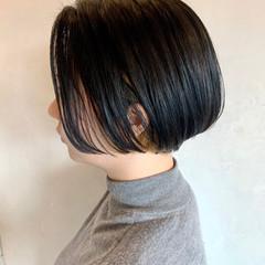 切りっぱなしボブ ミニボブ ショートボブ モード ヘアスタイルや髪型の写真・画像