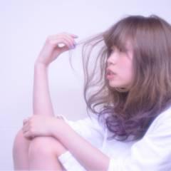 ハイトーン モード セミロング ヘアスタイルや髪型の写真・画像