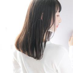 縮毛矯正 ストレート セミロング  ヘアスタイルや髪型の写真・画像