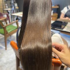 最新トリートメント ナチュラル 艶髪 艶カラー ヘアスタイルや髪型の写真・画像