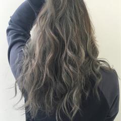 外国人風 ハイライト グラデーションカラー ブラウン ヘアスタイルや髪型の写真・画像