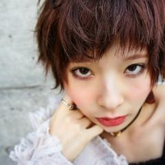 前髪あり グラデーションカラー ハイライト モード ヘアスタイルや髪型の写真・画像