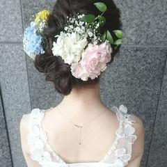 二次会 ロング ブライダル 結婚式 ヘアスタイルや髪型の写真・画像
