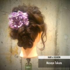 フェミニン ゆるふわ ヘアアレンジ ナチュラル ヘアスタイルや髪型の写真・画像