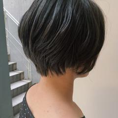フェミニン 大人女子 ママヘア 黒髪ショート ヘアスタイルや髪型の写真・画像