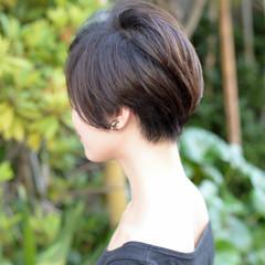 パーマ 黒髪 ショート ボブ ヘアスタイルや髪型の写真・画像