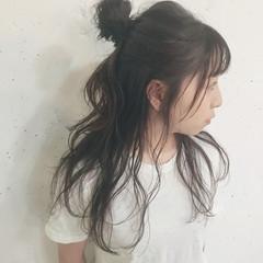 ハーフアップ ショート ヘアアレンジ 簡単ヘアアレンジ ヘアスタイルや髪型の写真・画像