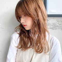 ベージュ ベージュカラー パーマ デジタルパーマ ヘアスタイルや髪型の写真・画像