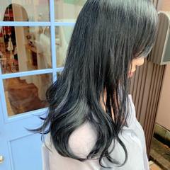 ロング ブリーチカラー 透明感カラー ストリート ヘアスタイルや髪型の写真・画像