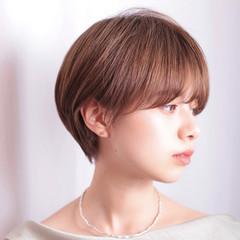ハンサムショート 小顔ショート ナチュラル ショート ヘアスタイルや髪型の写真・画像