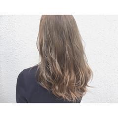 ナチュラル ゆるふわ グレージュ セミロング ヘアスタイルや髪型の写真・画像