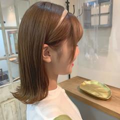 ナチュラル ボブ ショコラブラウン 透明感カラー ヘアスタイルや髪型の写真・画像