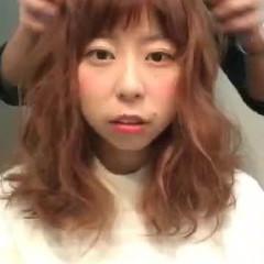 波ウェーブ 前髪あり セミロング ゆるふわ ヘアスタイルや髪型の写真・画像