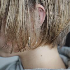 ショート ブロンドカラー ブリーチカラー ブリーチ必須 ヘアスタイルや髪型の写真・画像