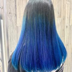 ブルーアッシュ アンニュイほつれヘア ナチュラル 外国人風 ヘアスタイルや髪型の写真・画像