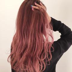 かき上げ前髪 ロング ガーリー ハイライト ヘアスタイルや髪型の写真・画像