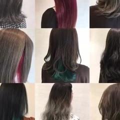 ハイライト セミロング 外国人風 ストリート ヘアスタイルや髪型の写真・画像