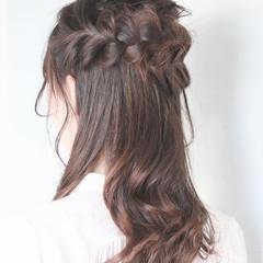 セミロング 結婚式 簡単ヘアアレンジ エレガント ヘアスタイルや髪型の写真・画像