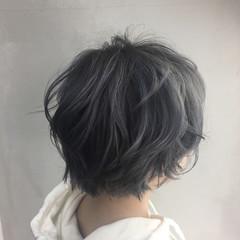 春 ストリート 外国人風 グレージュ ヘアスタイルや髪型の写真・画像