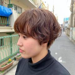 ショート 切りっぱなしボブ ショートボブ ベリーショート ヘアスタイルや髪型の写真・画像