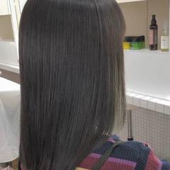 ナチュラル 縮毛矯正 縮毛矯正ストカール ストレート ヘアスタイルや髪型の写真・画像