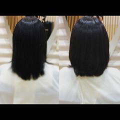 セミロング ナチュラル 髪質改善カラー 髪質改善 ヘアスタイルや髪型の写真・画像