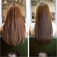 トリートメント 艶髪 ナチュラル ロング ヘアスタイルや髪型の写真・画像