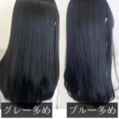 透明感カラー ナチュラル 暗髪 ロング ヘアスタイルや髪型の写真・画像