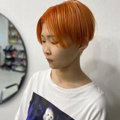 ナチュラル オレンジブラウン オレンジベージュ オレンジカラー ヘアスタイルや髪型の写真・画像