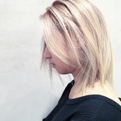 ボブ ストリート ダブルカラー 外国人風 ヘアスタイルや髪型の写真・画像