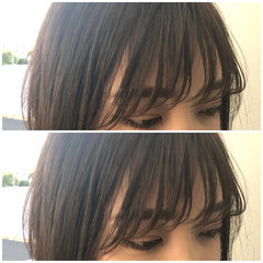 ストリート シースルーバング 前髪パッツン ロング ヘアスタイルや髪型の写真・画像