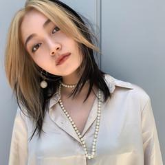 モード PEEK-A-BOO 韓国風ヘアー ミディアム ヘアスタイルや髪型の写真・画像