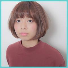ラフ ガーリー ボブ ナチュラル ヘアスタイルや髪型の写真・画像