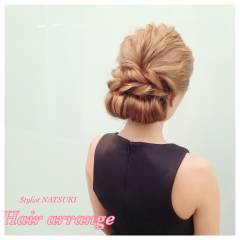 ロング ヘアアレンジ ゆるふわ フェミニン ヘアスタイルや髪型の写真・画像