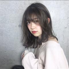 ミディアム 秋 ヘアアレンジ 透明感 ヘアスタイルや髪型の写真・画像