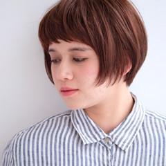 ショート ショートバング 前髪あり ショートボブ ヘアスタイルや髪型の写真・画像