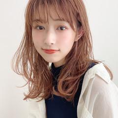 セミロング 小顔 イルミナカラー 大人かわいい ヘアスタイルや髪型の写真・画像