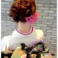 コンサバ 成人式 アップスタイル 和装 ヘアスタイルや髪型の写真・画像