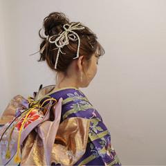 結婚式 ナチュラル 謝恩会 セミロング ヘアスタイルや髪型の写真・画像