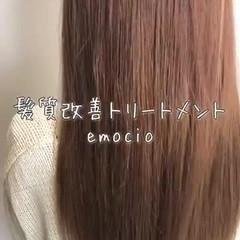 髪質改善トリートメント ロング バレイヤージュ ナチュラル ヘアスタイルや髪型の写真・画像