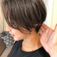 ベリーショート ショート ショートボブ ナチュラル ヘアスタイルや髪型の写真・画像