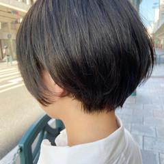 ショートヘア アッシュベージュ ナチュラル ショートボブ ヘアスタイルや髪型の写真・画像