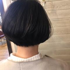 黒髪 フェミニン ボブ ヘアスタイルや髪型の写真・画像