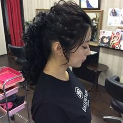 ロング 編み込み 結婚式 ポンパドール ヘアスタイルや髪型の写真・画像